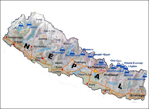 Cartina India Nepal.Nepal At A Glance Navyo Nepal Discover Asia